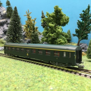 Voiture A9 UIC Ep III SNCF-N 1/160-REE NW136