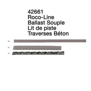 Lit de piste pour traverses béton-HO 1/87-ROCO 42661
