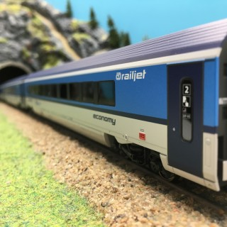 Coffret 3 voitures Railjet CD Ep VI 3R-HO 1/87-ROCO 74141