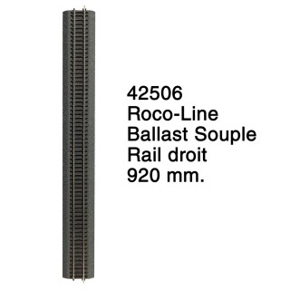 Rail droit 920 mm Ballast Souple-HO 1/87-ROCO 42506