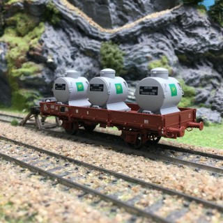 Wagon plat OCEM 29 + Containers SNCF Ep IV-HO 1/87-REE WB131 DEP58-110