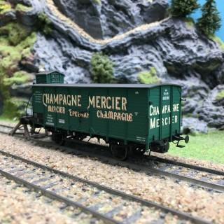 Wagon couvert G10 Champagne Mercier Alsace Ep I-HO 1/87-BRAWA 49775