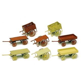 8 voitures à bras-HO 1/87-PREISER 17103