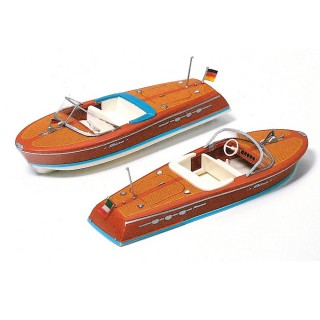 2 canots à moteur-HO 1/87-PREISER 17304