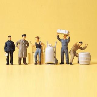 Personnel d'entrepôt + accessoires-HO 1/87-PREISER 14147
