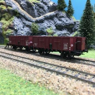 2 tombereaux Ocem 29 rouge sideros PLM ép II -HO 1/87- REE WB477