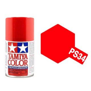 "Rouge ""lumineux"" Polycarbonate Spray de 100ml-TAMIYA PS34"
