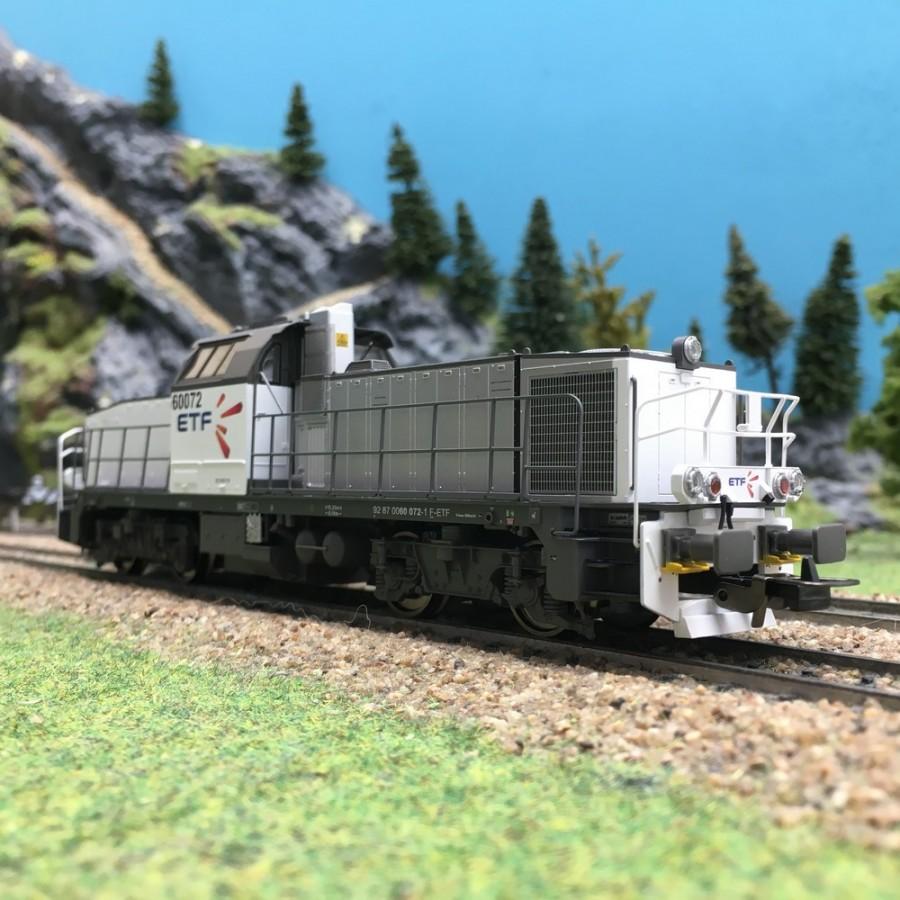 Locomotive Diesel BB60072 ETF SNCF Ep VI-HO-1/87-PIKO 96477