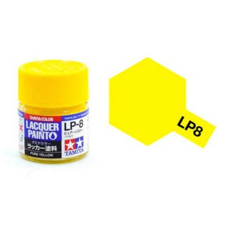 Jaune pur brillant pot de 10ml-TAMIYA LP8