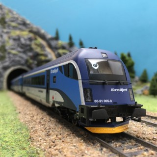 4 Voitures Railjet CD Ep VI-HO 1/87-ROCO 74142