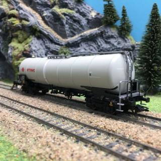 Wagon citerne Zang 95m3 Ermewa SA Ep V-HO 1/87-MARKLIN 47540