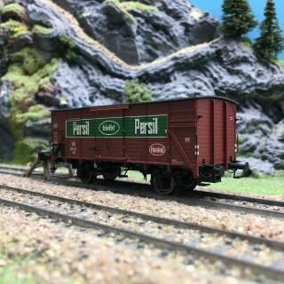 """Wagon couvert G10 """"Persil"""" DB Ep III-HO 1/87-BRAWA 49754"""