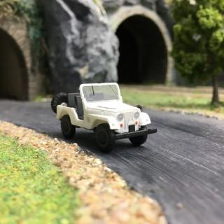 Jeep Universal Renegade Blanche-HO 1/87-BREKINA 58909