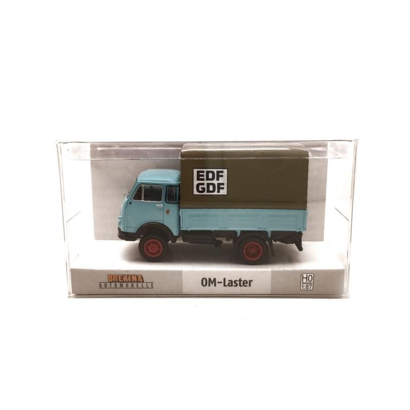 "Camion OM Unic PP /""EDF-GDF/""-HO 1//87-BREKINA 34629"