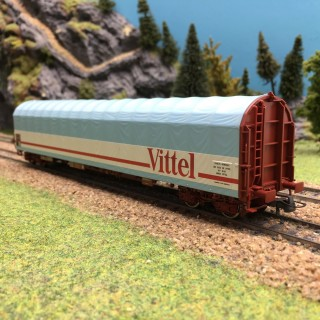 Wagon à bâche coulissante Vittel SNCF Ep IV-V -HO 1/87-ROCO 76453