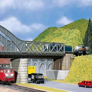 Pont à Caissons type métallique-HO 1/87-FALLER 120534