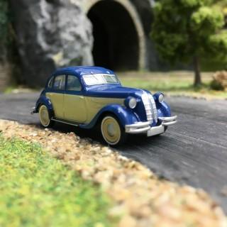 BMW 326 bleu/beige-HO 1/87-BREKINA 24559