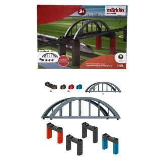 Pont à Arches avec Piliers-HO 1/87-MARKLIN 72218
