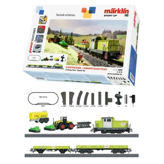 Coffret Train agricole digital-HO 1/87-MARKLIN 29652