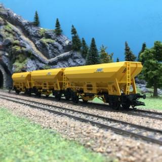 3 wagons trémie Fes DBG Ep VI-HO 1/87-TRIX 24168