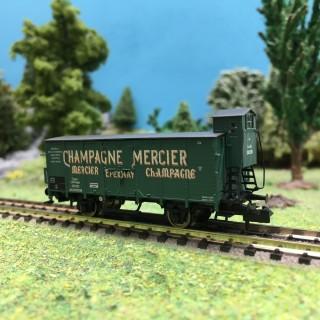 Wagon couvert G10 Champagne Mercier Ep I-N 1/160-BRAWA 67492