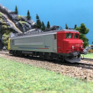 Locomotive BB7321R Dijon SNCF Ep VI 3R digit son-HO 1/87-LSMODELS 10706S