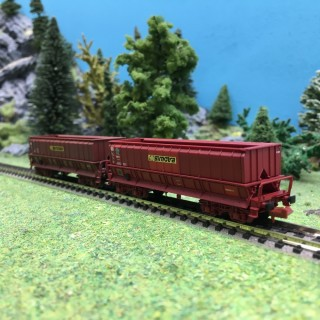 2 wagons trémie DMH SIMOTRA SNCF Ep V-N-1/160-LSMODELS 60042
