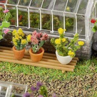 6 plantes en pots-HO 1/87-FALLER 181270