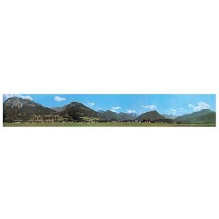 Décor de fond campagne et collines-N-1/160 et HO 1/87-FALLER 180516