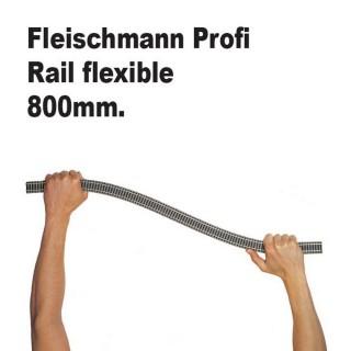 Rail droite flexible 800mm-HO-1/87-FLEISCHMANN 6106