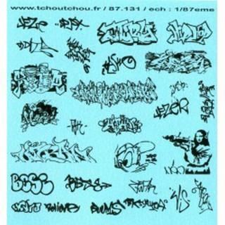 Tags / Graffitis décalcomanies-HO 1/87-TCHOUTCHOU 87131