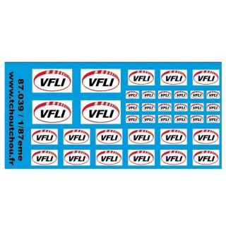 VFLI -1- décalcomanies-HO 1/87-TCHOUTCHOU 87039