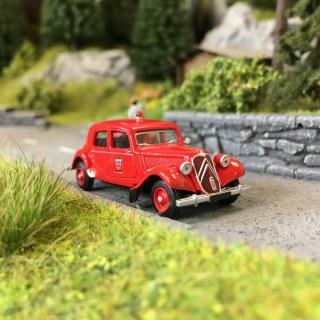 Citroën Traction 11B 1952 Pompiers d'Orléans-HO 1/87-SAI 6128