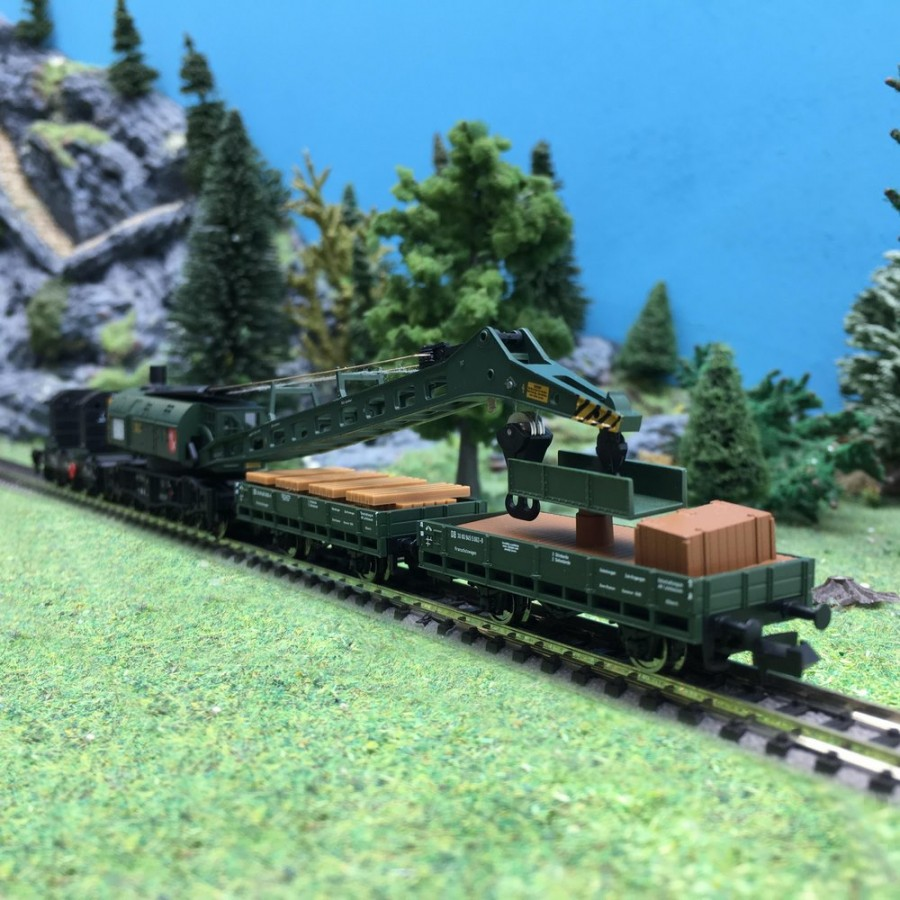 Grue à vapeur 4 éléments Ep IV DB-N 1/160-FLEISCHMANN 859902