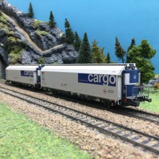 2 wagons HBBILLS-uy SBB Migros/Coop Ep VI-HO 1/87-MABAR 87520