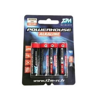 4 piles Alkaline LR6, AA, 1.6V Powerhouse- T2M T3619