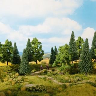 Forêt Mixte 8 pièces 10 - 14 cm de haut-HO 1/87-NOCH 24620