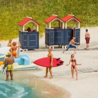Cabines de plage-HO 1/87-NOCH 14261