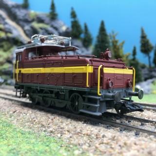 Locomotive de manoeuvre Ee 3-3 PTT 7 Ep IV digital son-HO 1/87-TRIX 22392