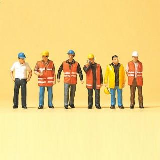 6 ouvriers en tenue-HO 1/87-PREISER 10420