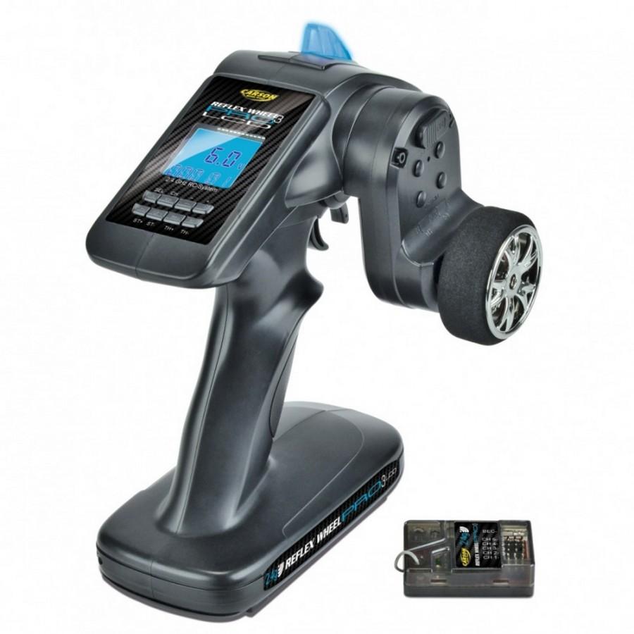 Radio 2.4 GHZ Reflex Wheel PRO 3 LCD FS 3K BEC - CARSON 500500055