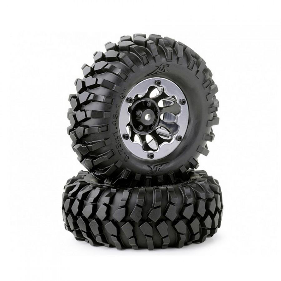 2 roues Crawler Bead Lock 96 mm / Hexa 12 mm - 1/10 1/12 - CARSON 500900557