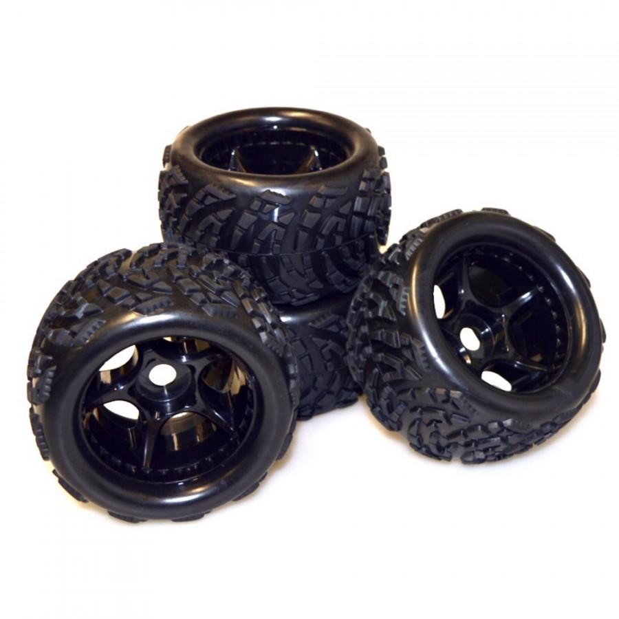 4 roues Beat Warrior X10ET Hexa 17 mm - 1/8 - CARSON 500900138