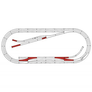 Coffret de rails complémentaires Roco Line E-HO 1/87-ROCO 42013