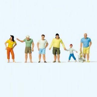 6 personnages en tenues estivale-HO 1/87-PREISER 10672