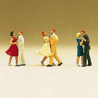 6 Danseurs-HO 1/87-PREISER 10120