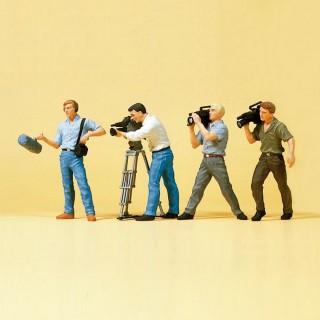 4 Cameraman + accessoires-HO 1/87-PREISER 10421