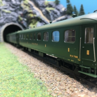 3 Voitures Rapide Nord A8 B9 B9 Ep II NORD-HO 1/87-LSMODELS 40184