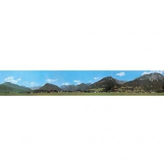 Décor de fond campagne et collines 2-N-1/160 et HO 1/87-FALLER 180517