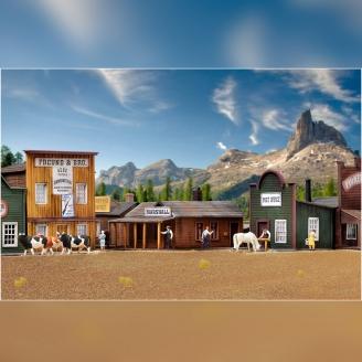 Ensemble de bâtiments Western-HO 1/87-KIBRI 38504